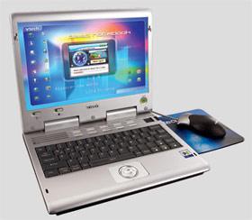 Компьютер с цветным дисплеем Color LCD Notebook